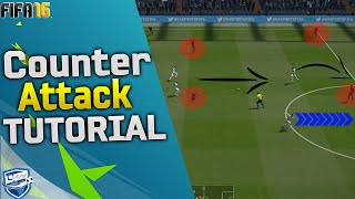 FIFA 16 COUNTER ATTACK TUTORIAL / How to score fast & easy goals / BEST ATTACKING TRICKS - FUT & H2H