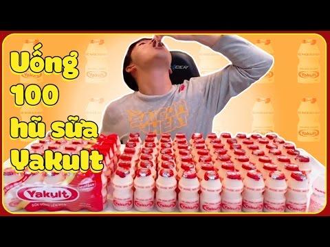 Thử thách: uống 100 hũ sữa chua YAKULT cùng Woossi | YAKULT Challenge