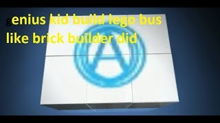 genius kid build bus lego like brick builder