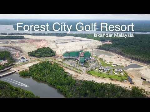 Forest City Golf Resort in Iskandar Malaysia - Progress as 13.11.2017