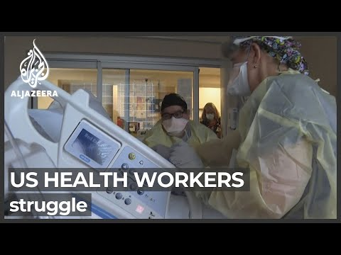 US healthcare system severely strained by COVID crisis