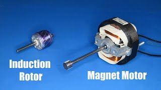 Turn a weak induction motor to a powerful Magnet motor AC 220V