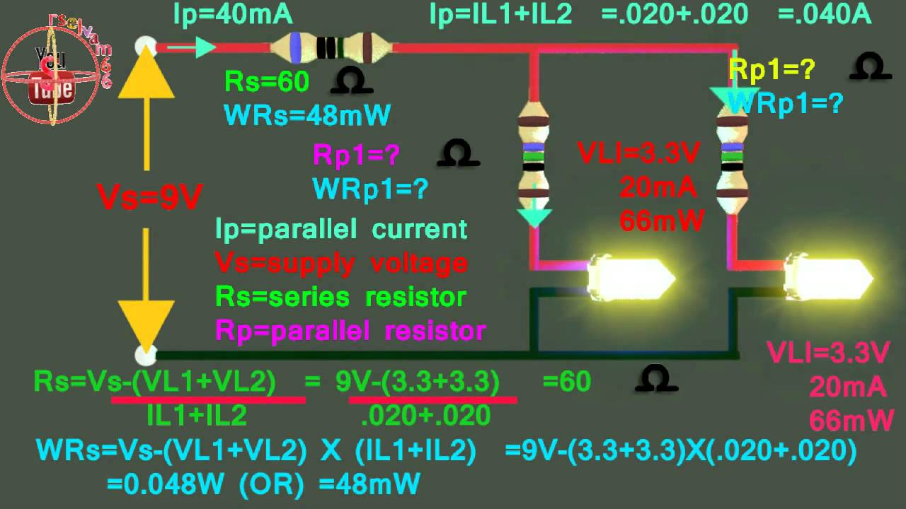 3.3v &3.3v LED How To Connect 9V Parallel Circuit, How To
