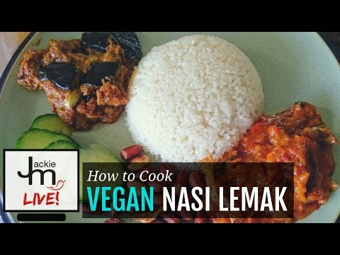LIVE Replay - How to Cook Vegan Nasi Lemak