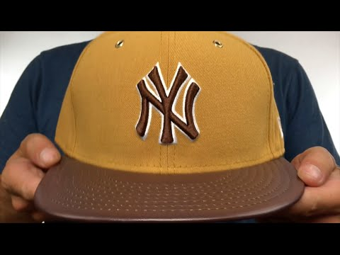 b8ce02e5678 Yankees  METAL HOOK  Wheat-Brown Fitted Hat by New Era - YouTube