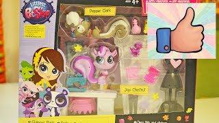 LPS распаковка. Новые Littlest Pet Shop игрушки. Видео-обзор Маленького Зоомагазина ЛПС для детей