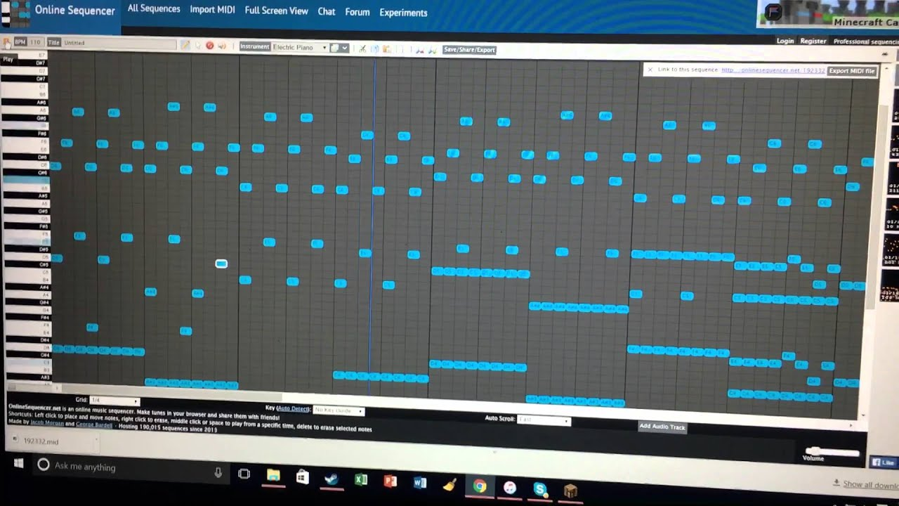 online sequencer new song unfinished youtube