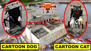 YOU WONT BELIEVE WHAT MY DRONE CAUGHT AT ABANDONED MALL | DRONE CAUGHT CARTOON CAT & CARTOON DOG