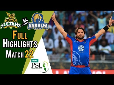 Full Highlights | Multan Sultans Vs Karachi Kings  | Match 22 | 10 March | HBL PSL 2018 thumbnail