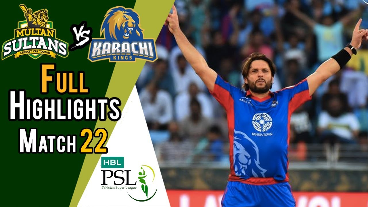 Full Highlights | Multan Sultans Vs Karachi Kings  | Match 22 | 10 March | HBL PSL 2018