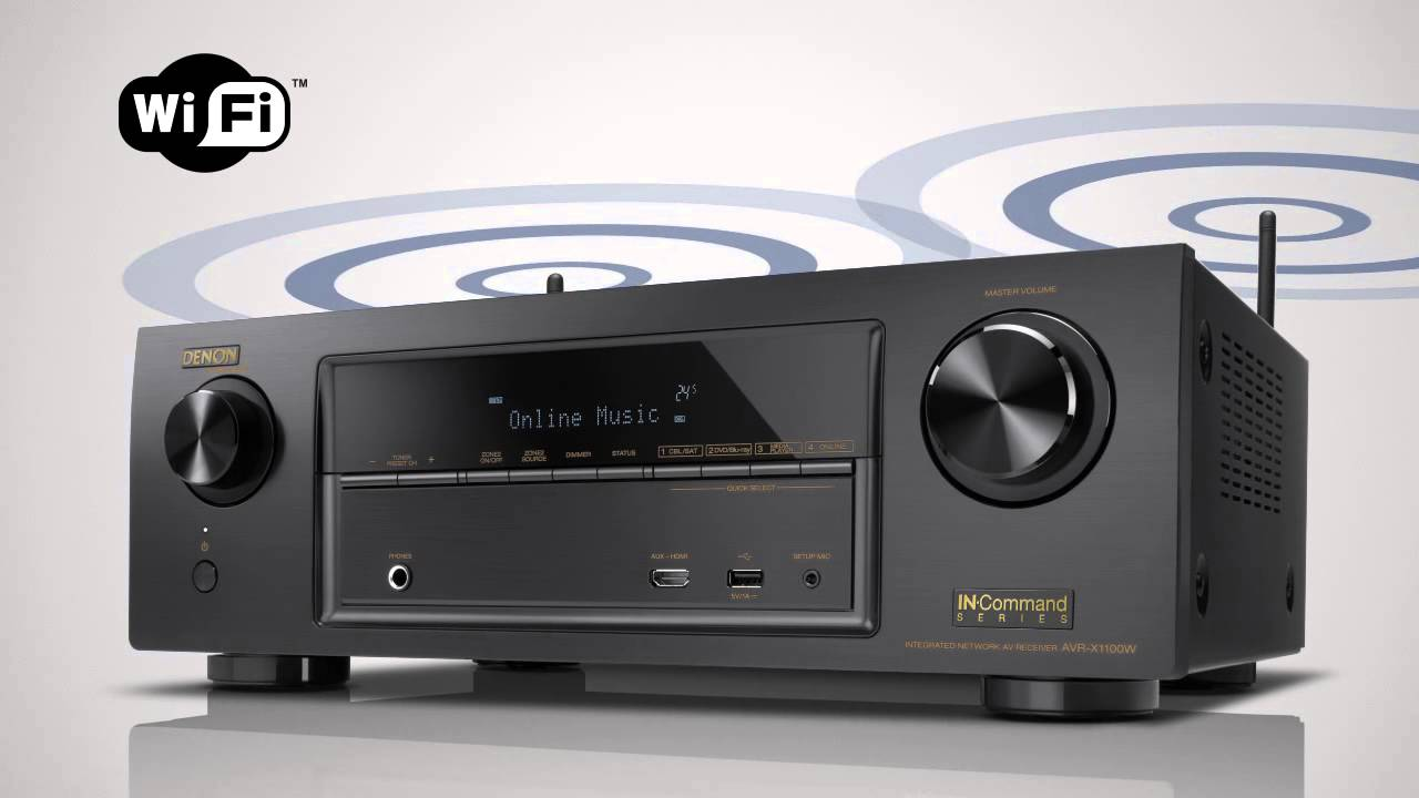 Denon AVR- X1100W with Bluetooth and WIFI : UNRIVALED NOW UNWIRED