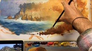 Point Lobos Painting Lesson