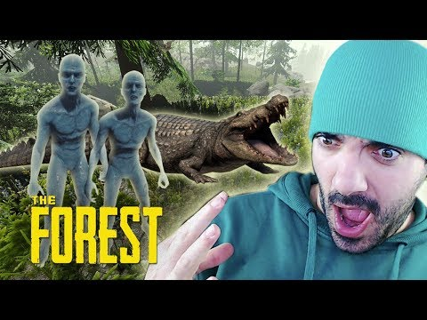 CANÍBALES Y COCODRILOS ⭐️ The Forest #3   iTownGamePlay
