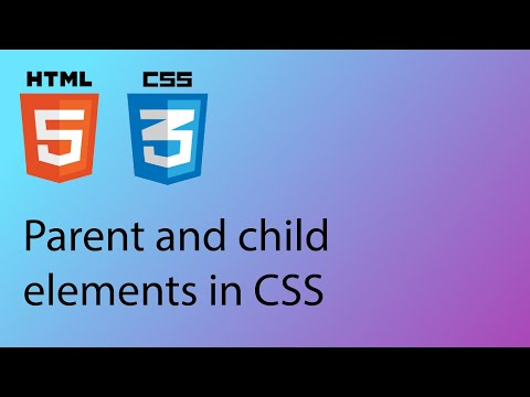 HTML & CSS 2020 Tutorial 24 - Parent And Child Elements