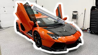 Wrapping The Stradman's Aventador - Again!!