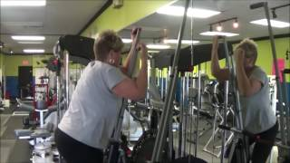 TINA RUSSELL BURNS DOUBLE THE CALORIES ON MAXI CLIMBER THAN TREAD MILL
