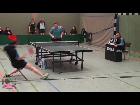 This deadly table tennis shot leaves the opponent speechless