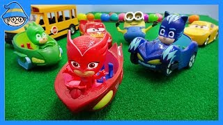 Car toys for kids_episode. PJ Mask and car toys are come down the hill.