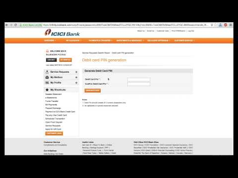 Icici Debit Card Pin Generation Online