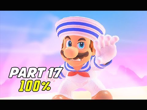 SUPER MARIO ODYSSEY Walkthrough Part 17 - 100% Luncheon Kingdom (Let's Play Commentary)