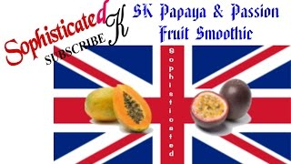 Papaya & Passion Fruit Smoothie Sk