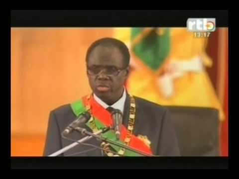 RTB - Burkina   prestation de serment du nouveau président Michel KAFANDO