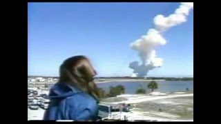Space Shuttle Challenger Explosion (Christa McAuliffe) Watched by Back Up Teacher Barbara Morgan
