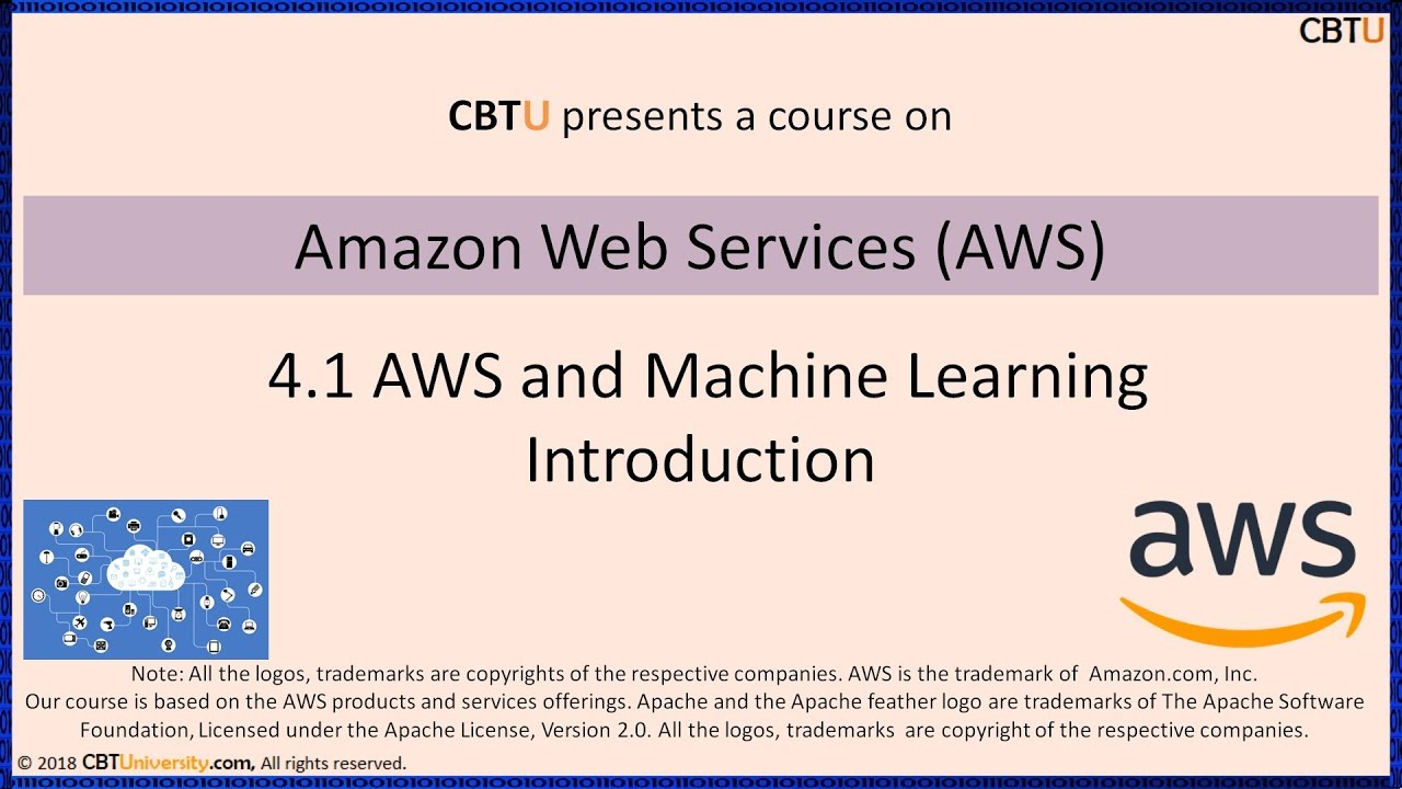 4 1 Aws And Machine Learning Introduction Youtube