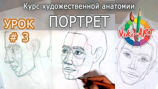 Как нарисовать портрет: ПОЛНЫЙ РАЗБОР! Урок 3: Поворот 3/4. Пропорции лица. Рисуем вместе с Viki-ART(Как нарисовать портрет: ПОЛНЫЙ РАЗБОР! Поворот в 3/4. Пропорции головы и лица. Художественная натомия. Рисуем..., 2017-02-01T15:40:34.000Z)