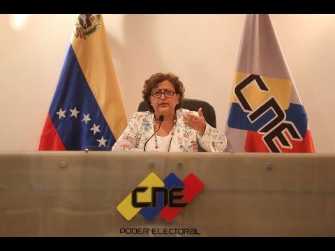 Rectora del CNE Tibisay Lucena da fecha de elecciones regionales y municipales