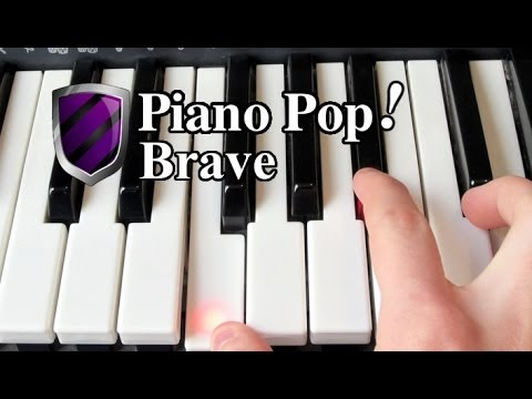how to play brave on piano