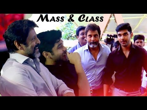 Mass Introduction:Chiyaan Vikram and his Son Dhruv Vikram Candid Moments
