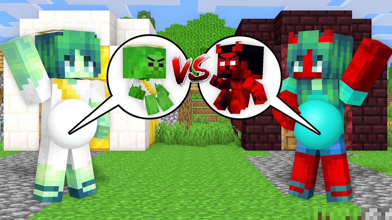 Monster School: Baby Zombie Angel Born vs Devil Birth Battle! Friends Story - Minecraft Animation