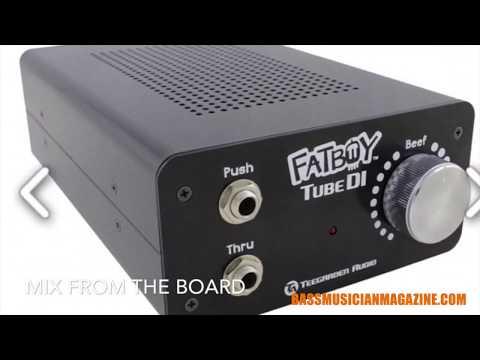 Bass Musician Magazine Reviews -Teegarden Audio Fatboy Tube DI