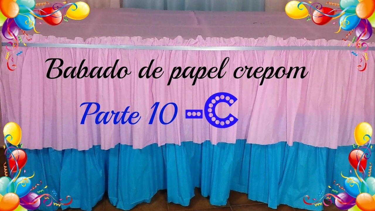 Muito Faça você mesmo, Babado de papel crepom - PARTE 10 - C - YouTube SS52