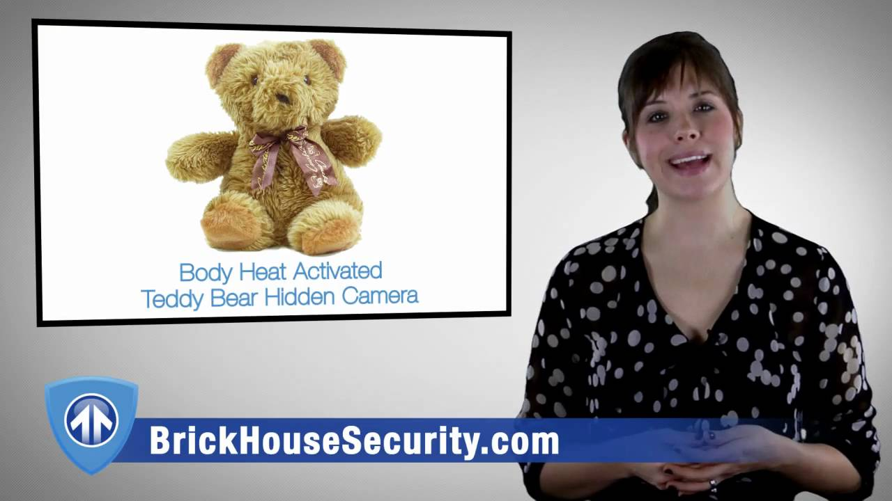 Download Teddy Bear Hidden Camera with Body Heat Activated Recording