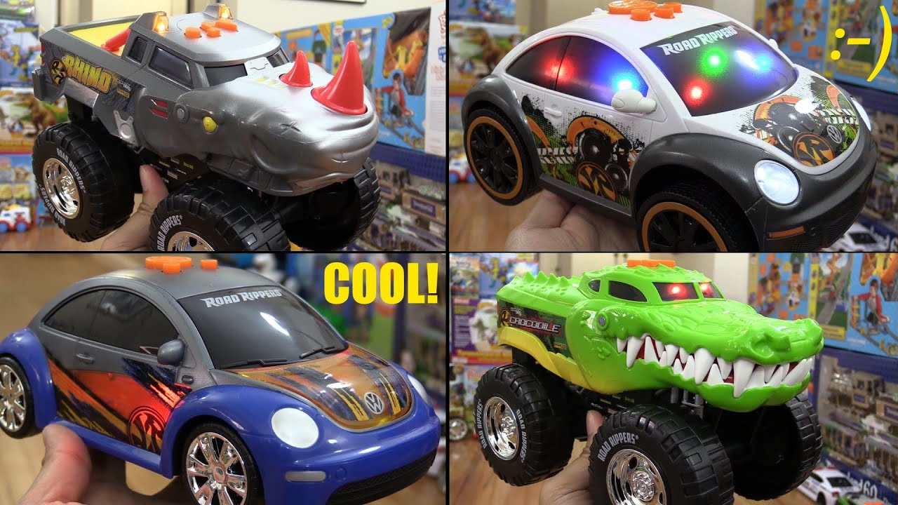 Awesome Toy Cars Road Rippers Crocodile And Rhino Wheelie