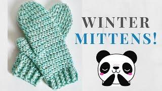 HOW TO CROCHET MITTENS!   Model 1    Free crochet tutorial for beginners!   Satisfying