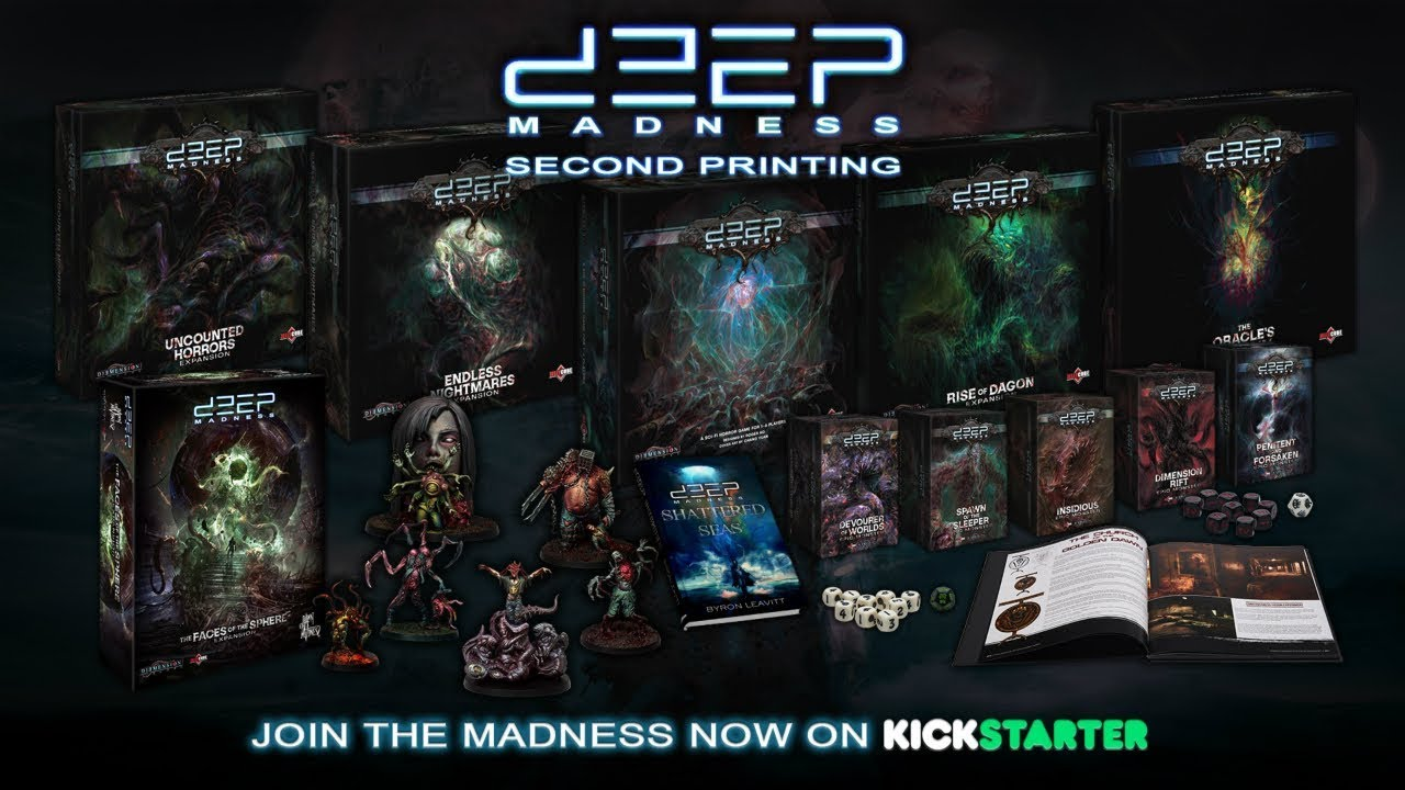 DEEP MADNESS N 28 DOUBLE SIDED TILE   //CTHULHU
