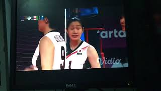 Set 3 volleyball japan and indonesia asiad 2018