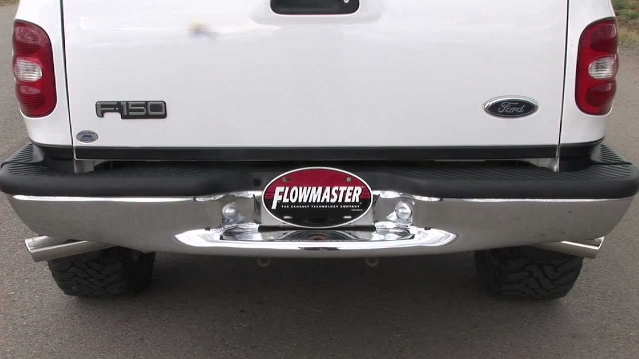 2003 ford f 150 with a flowmaster cat back exhaust system