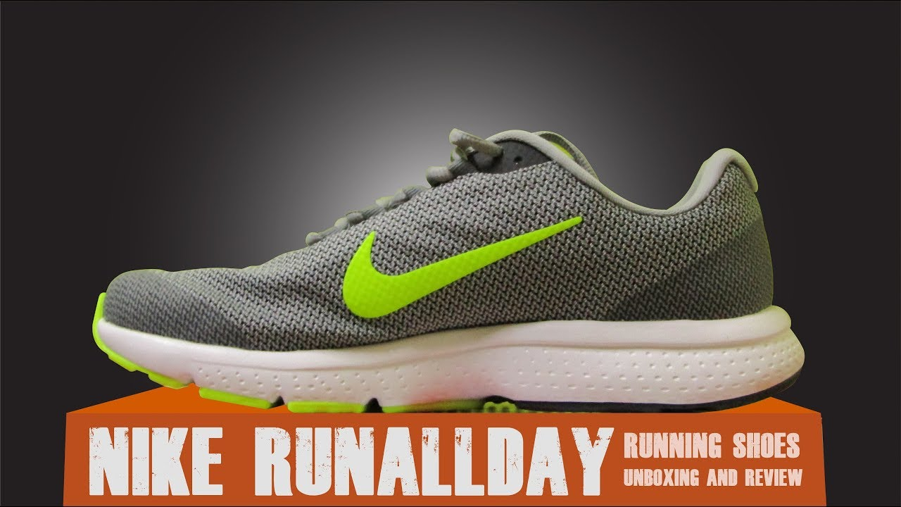 low priced 5acbf d76b5 Nike   RUNALLDAY   Running Shoes For Men   Grey   Review