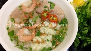 Hu Tieu - Rice Noodle With Pork And Seafood Recipe (hủ Tiếu)