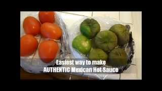 Authentic Mexican Hot Sauce Salsa Recipe Easiest Way To Make It
