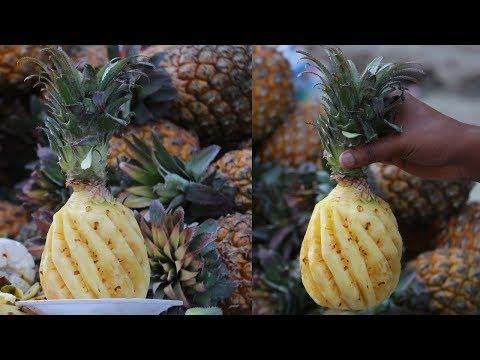 Amazing Pineapple Cutting Skills | Fruit Ninja of Mirpur Dhaka Bangladesh