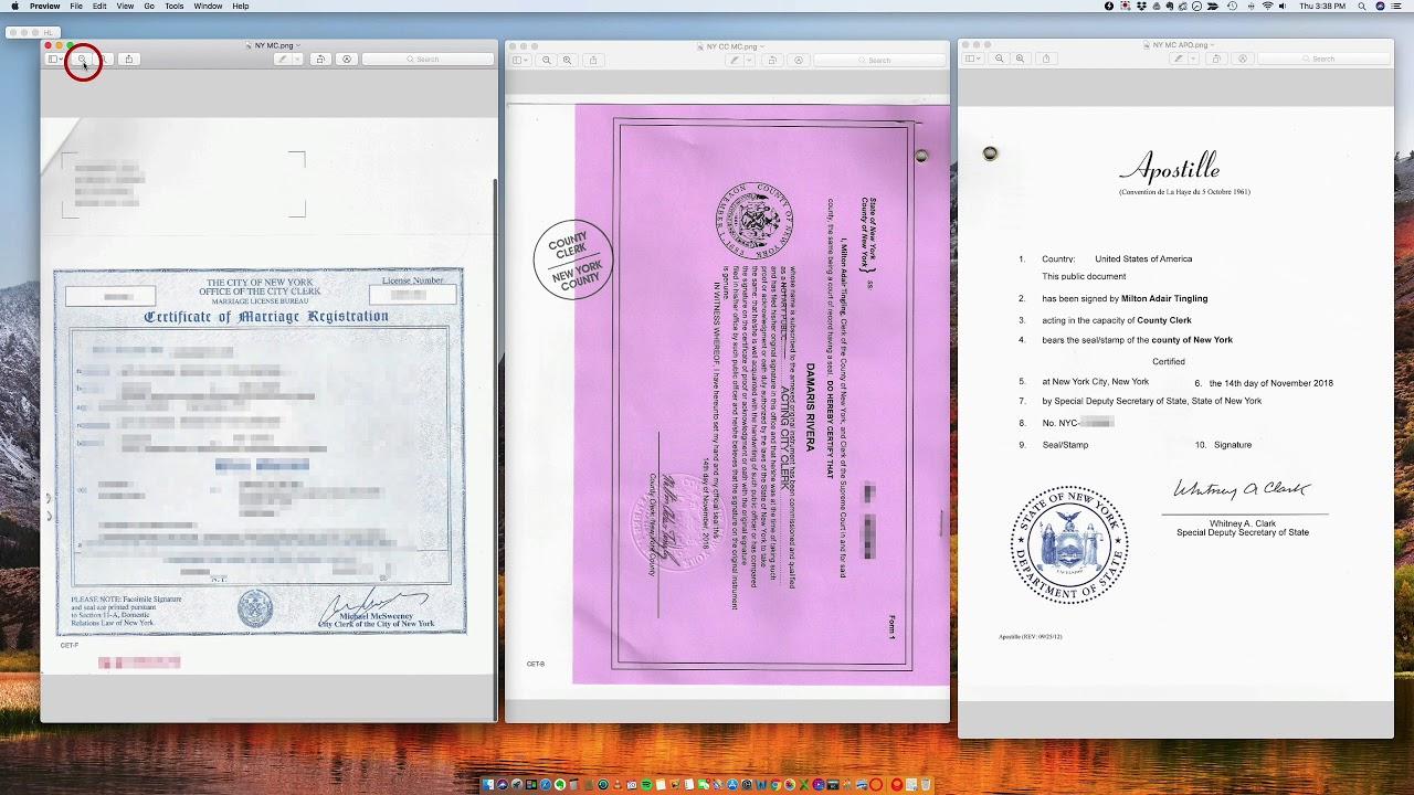 marriage certificate york apostille