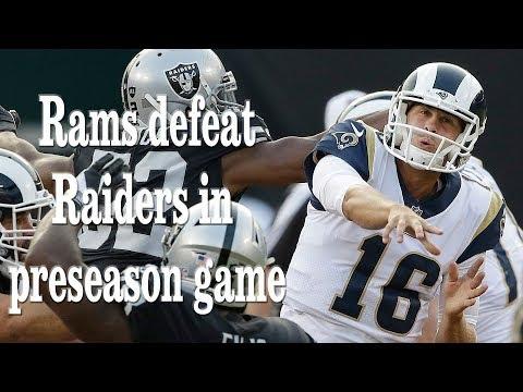 Los Angeles Rams Vs Oakland Raiders  (2018) Pre Season - Live Stream