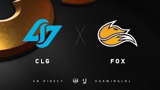 LCS Summer - CLG vs FOX - W3D1