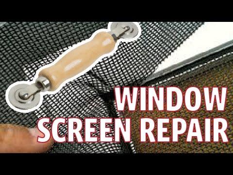 Window And Sliding Door Screen Repair Spline Tool Youtube