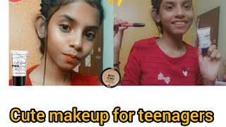 Light Makeup Tutorial for teenagers||Cherry Das